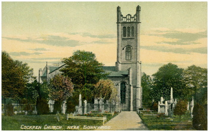 Postcard front: Cockpen Church, near Bonnyrigg