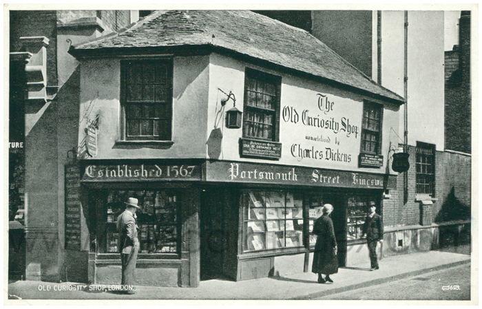 Postcard front: Old Curiosity Shop, London