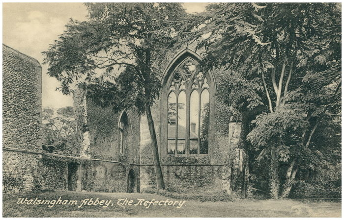 Postcard front: Walsingham Abbey, The Refectory