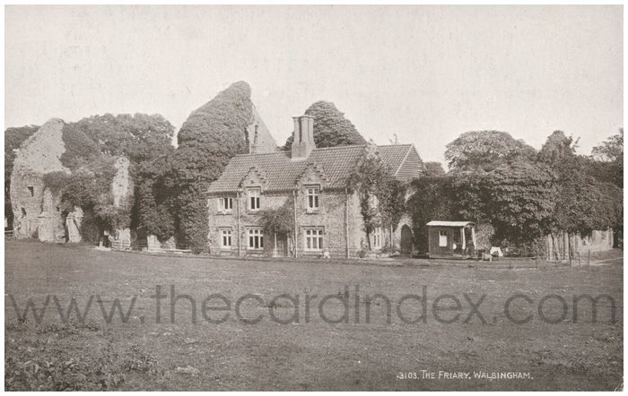 Postcard front: The Friary, Walsingham