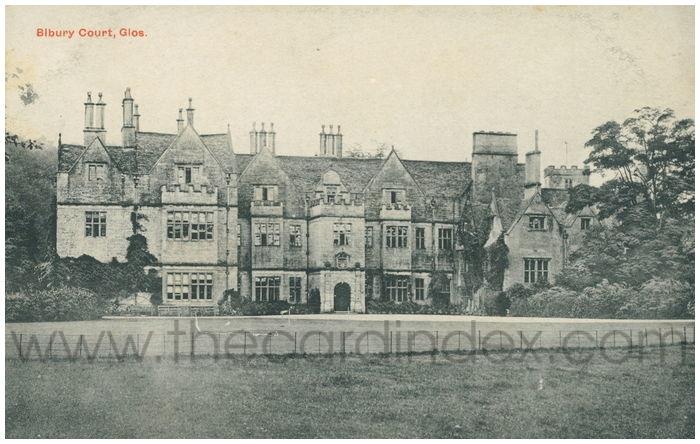 Postcard front: Bibury Court, Glos