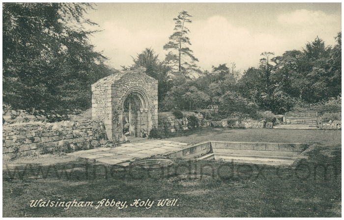Postcard front: Walsingham Abbey, Holy Well