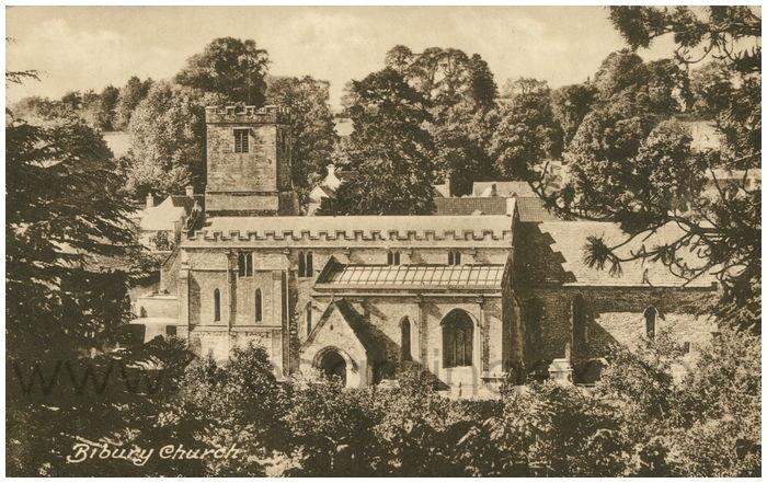 Postcard front: Bibury Church