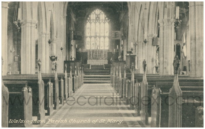 Postcard front: Walsingham Parish Church of St. Mary
