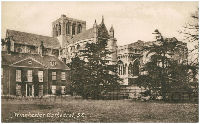 Postcard front: Winchester Cathedral, S.E.