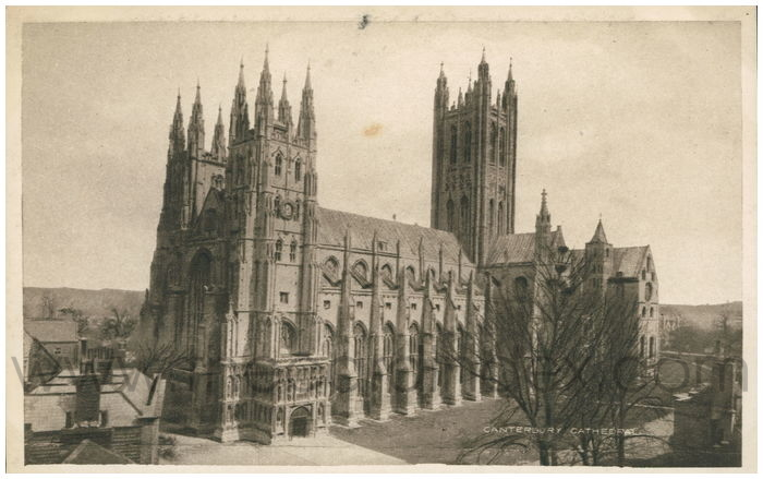 Postcard front: Canterbury Cathedral