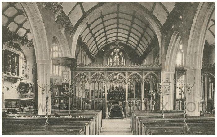 Postcard front: St. Decumans Church, Watchet