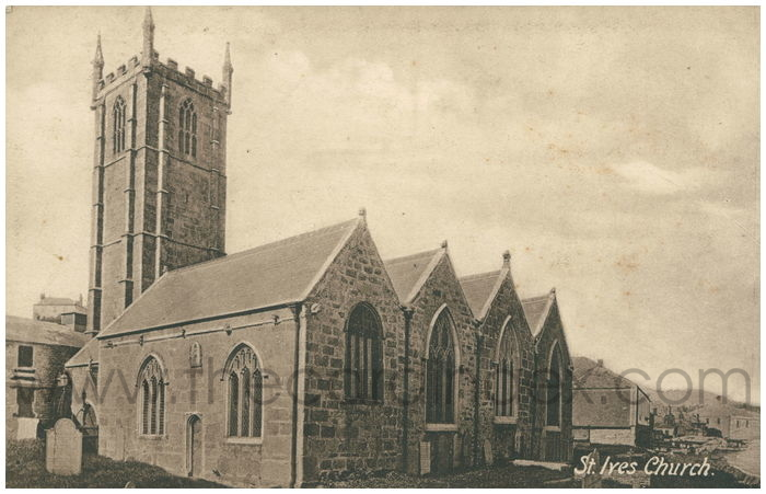 Postcard front: St. Ives Church