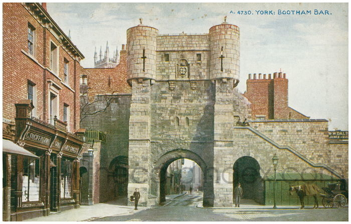 Postcard front: York: Bootham Bar
