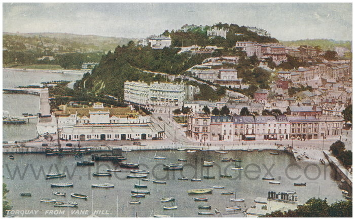 Postcard front: Torquay from Vane Hill
