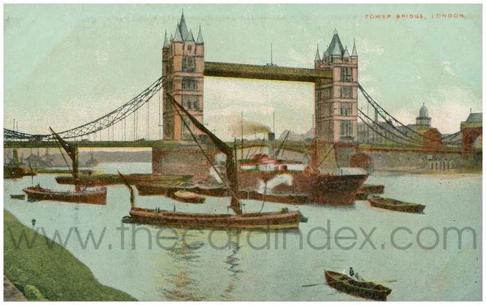 Postcard front: Tower Bridge, London