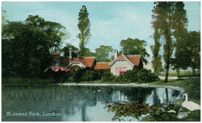 Postcard front: St. James' Park, London
