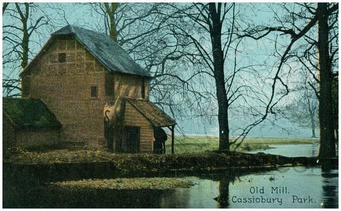 Postcard front: Old Mill. Cassiobury Park