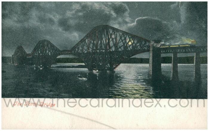 Postcard front: The Forth Bridge