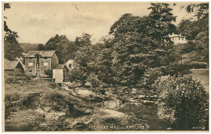 Postcard front: Felindre Mill, Llanidloes