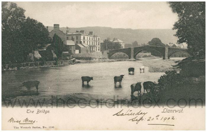 Postcard front: The Bridge Llanrwst