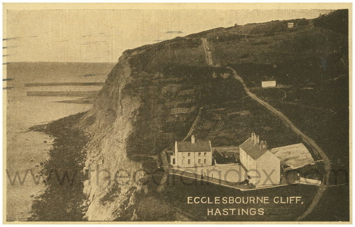 Postcard front: Ecclesbourne Cliff, Hastings