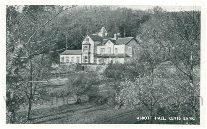 Postcard front: Abbott Hall, Kents Bank
