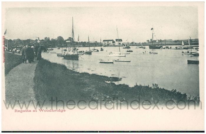 Postcard front: Regatta at Woodbridge