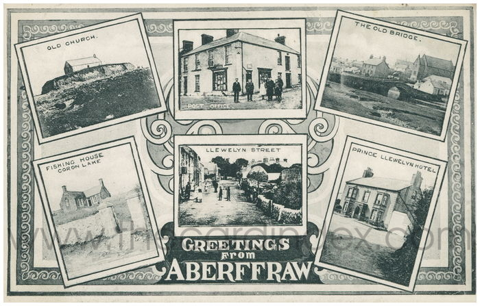 Postcard front: Greetings from Aberffraw