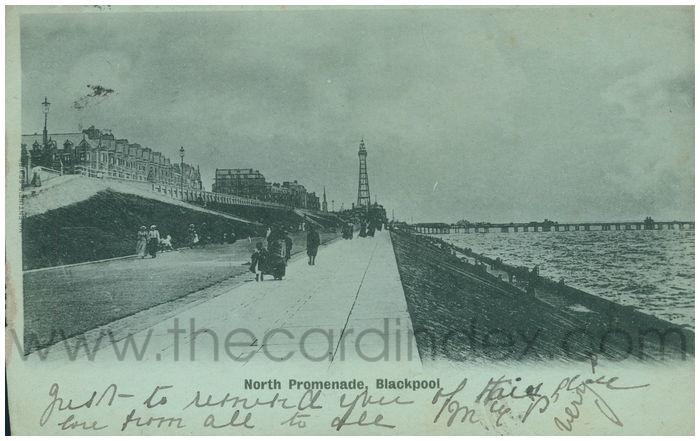 Postcard front: North Promenade, Blackpool