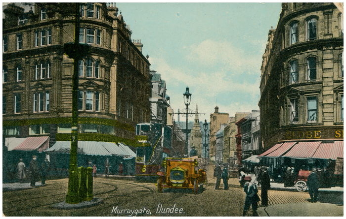 Postcard front: Murraygate, Dundee