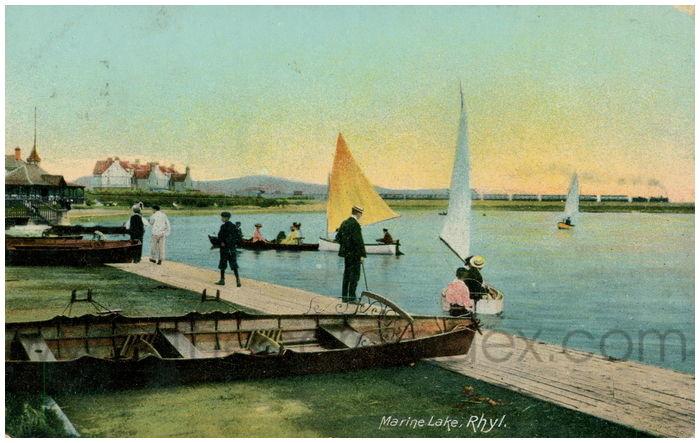 Postcard front: Marine Lake, Rhyl