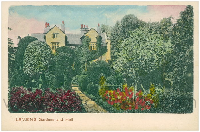 Postcard front: Levens Garden and Hall