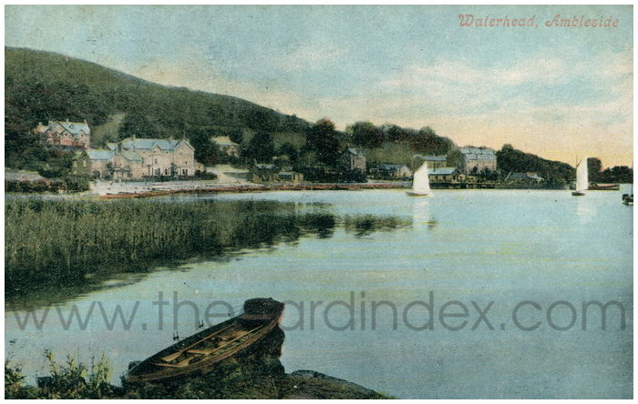 Postcard front: Waterhead, Ambleside