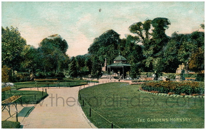 Postcard front: The Gardens, Hornsey