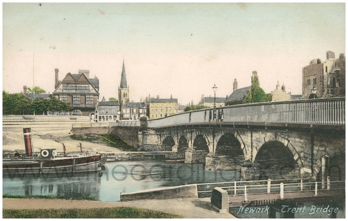 Postcard front: Newark. Trent Bridge