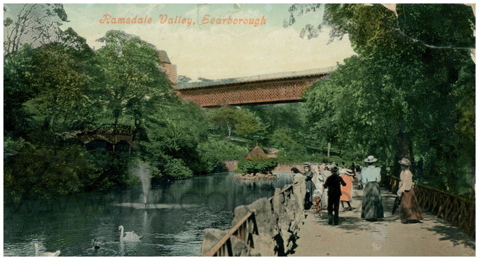 Postcard front: Ramsdale Valley, Scarborough