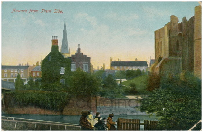 Postcard front: Newark from Trent Side