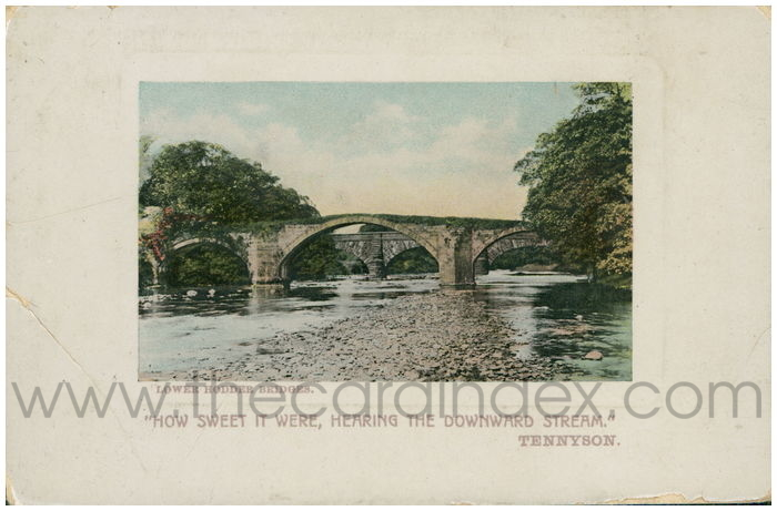 Postcard front: Lower Hodder Bridges.