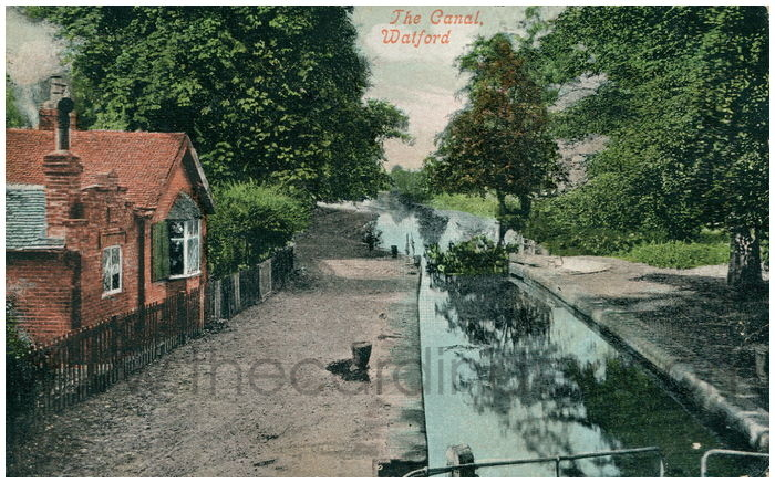 Postcard front: The Canal, Watford