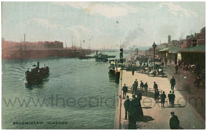 Postcard front: Broomielaw, Glasgow