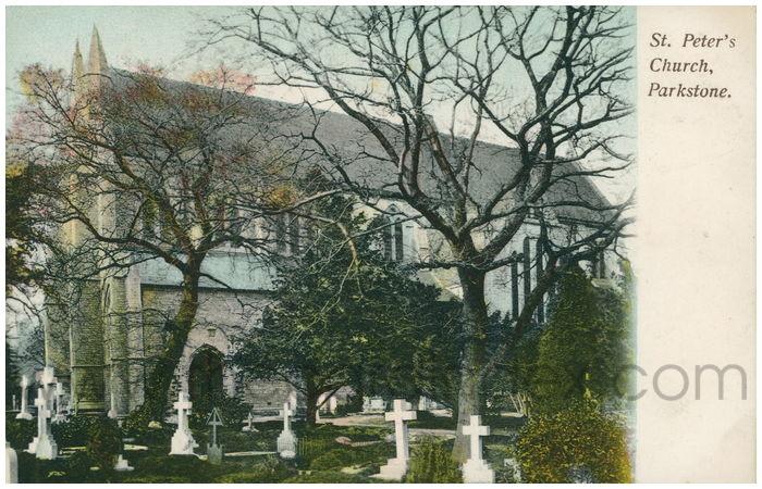 Postcard front: St. Peter's Church, Parkstone.