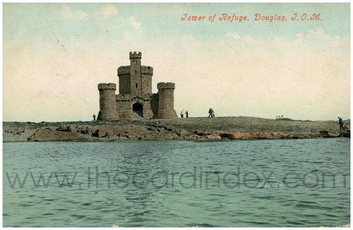 Postcard front: Tower of Refuge, Douglas, I.O.M.