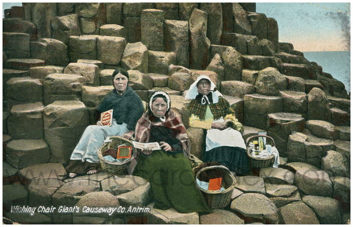 Postcard front: Wishing Chair Giant's Causeway Co. Antrim