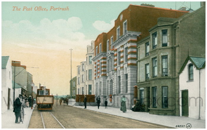 Postcard front: The Post Office, Portrush