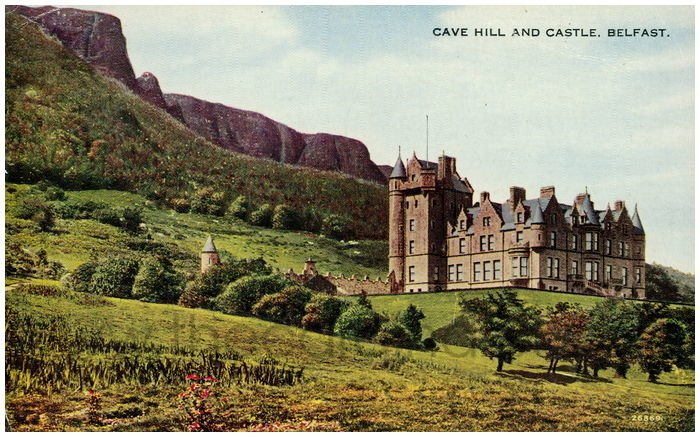 Postcard front: Cave Hill and Castle. Belfast.