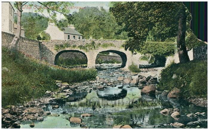 Postcard front: The Old Bridge, Rostrevor