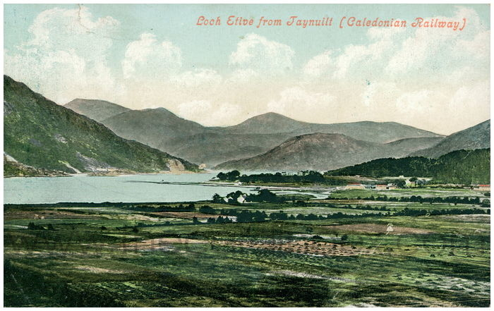 Postcard front: Loch Etive from Jaynuilt (Calendonian Railway)