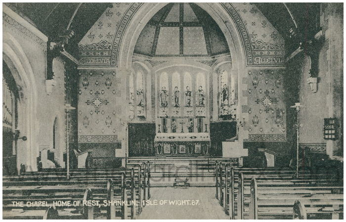 Postcard front: The Chapel, Home of Rest, Shanklin, Isle of Wight.