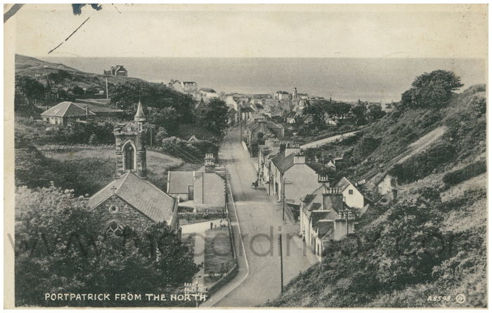 Postcard front: Portpatrick from the North