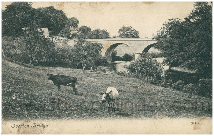 Postcard front: Overton Bridge