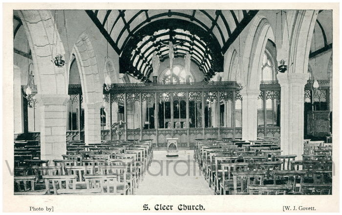 Postcard front: S. Cleer Church