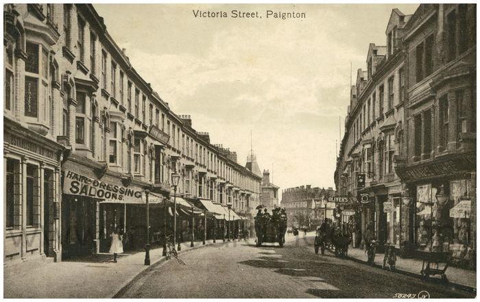 Postcard front: Victoria Street, Paignton