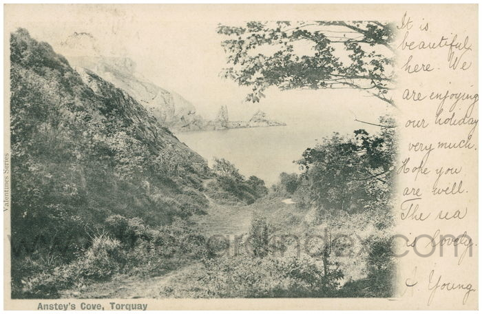 Postcard front: Anstey's Cove, Torquay