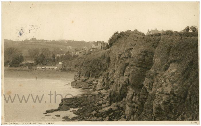 Postcard front: Paignton. Goodrington Cliffs.